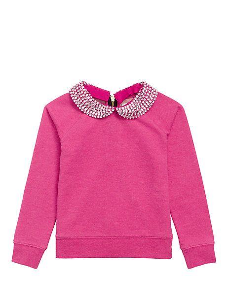 girls' embellished sweatshirt