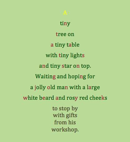 Write a Christmas cinquain poem
