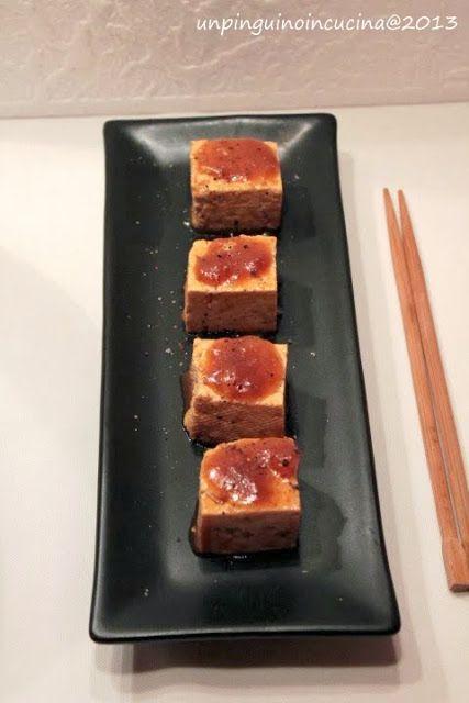 Un pinguino in cucina: Cubi di tofu speziati - Spicy Tofu Squares