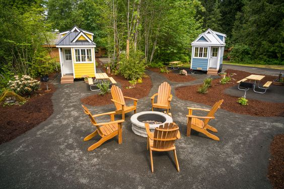 Mt. Hood Tiny House Village now offers five tiny homes as overnight rentals…
