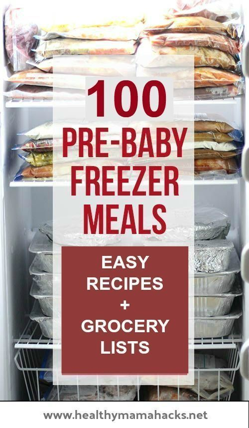 "Make sure to add ""freezer meals"" onto your natural postpartum kit checklist!"