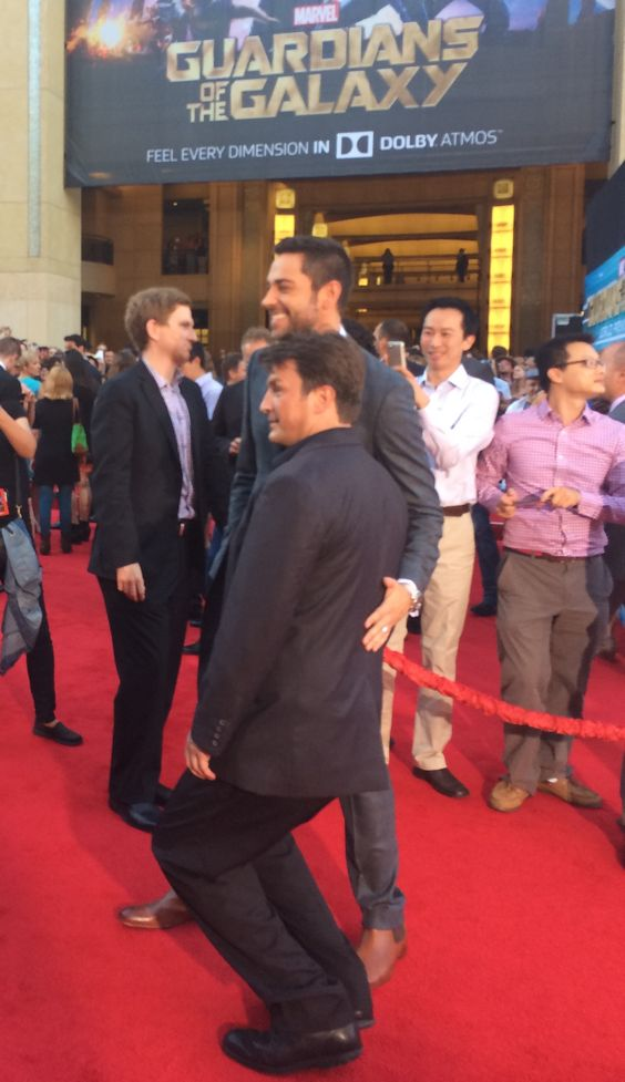 Zachary Levi & Nathan Fillion goofin' off!