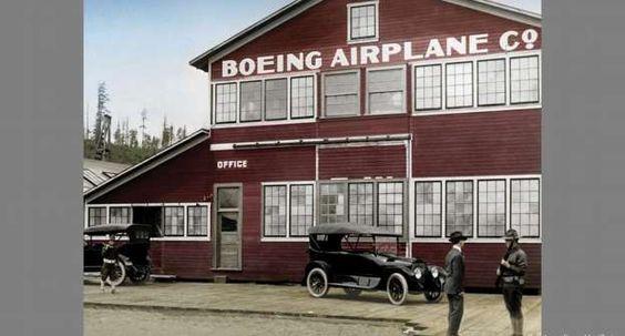 """O legendário """"Red Barn"""", junto ao lago Union, foi o galpão de embarcações que serviu de hangar para ... - picture-alliance/dpa/Boeing"""