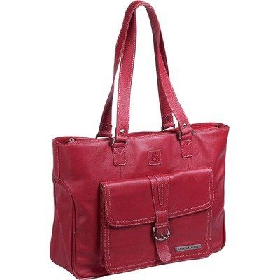 "Special Offers Available Click Image Above: Clark & Mayfield Stafford Pro Leather Laptop Tote 15.6"" (red)"