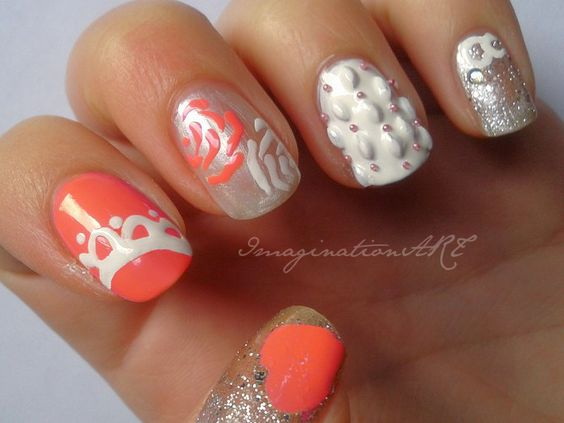nail art matrimonio wedding love amore cuore heart unghie decorazioni