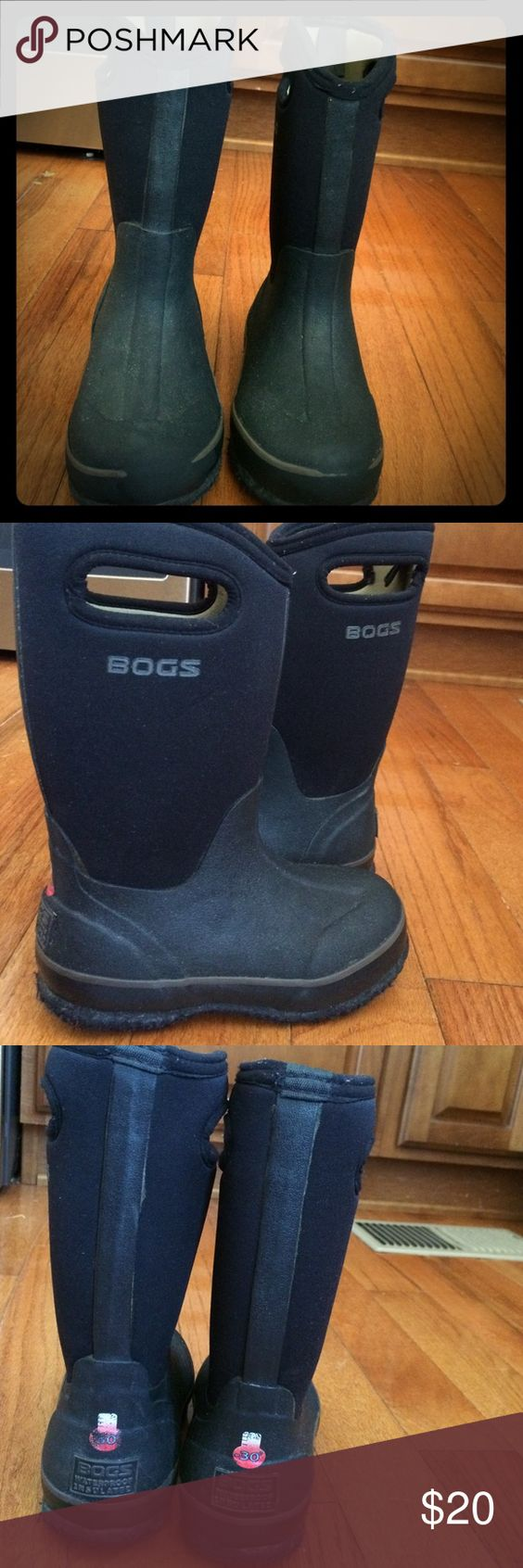 Bogs winter boots Black youth size 13 winter boots.  Great condition.  No stains or rips.  Perfect for winter Bogs Shoes Rain & Snow Boots