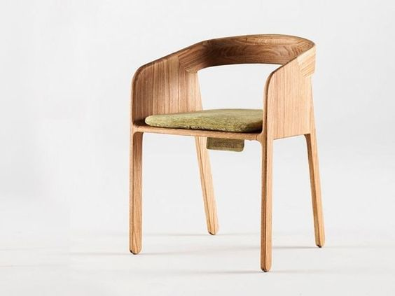 Upholstered chair with armrests Malena Collection by Artisan | design Zoran Jedrejcic