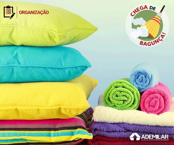 A organização de roupas de cama, mesa e banho pede cuidados especiais para evitar que as peças se danifiquem por conta do mofo ou fiquem com um odor desagradável.