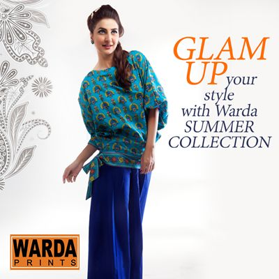Warda Designer Summer Dresses Eid Collection 2014 7 Warda Designer Summer Dresses Eid Collection 2014