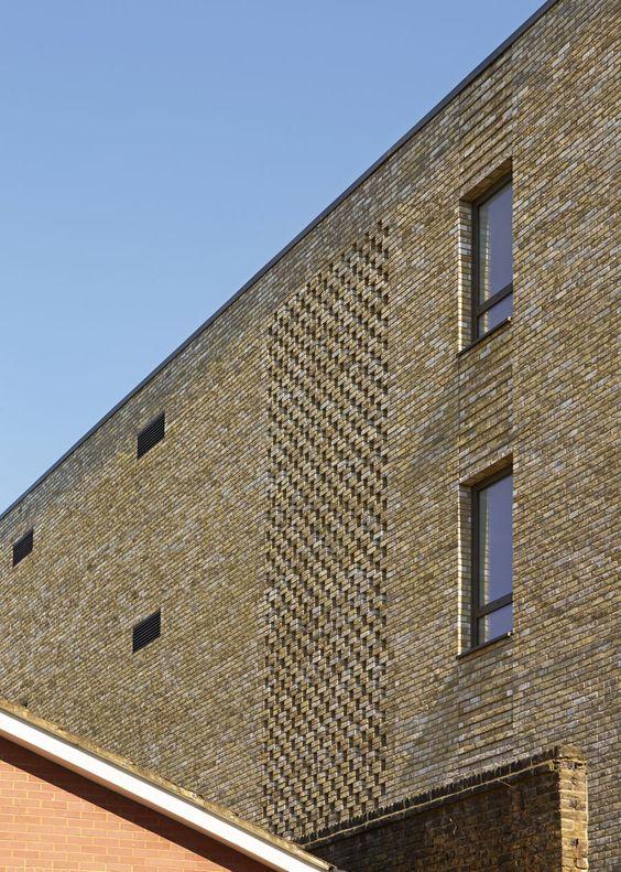 Hit and miss brickwork at the JW3 London   Lifschutz Davidson Sandilands