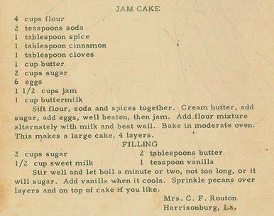 Roots from the Bayou : Family Recipe Friday - Jam Cake #genealogy #familyhistory