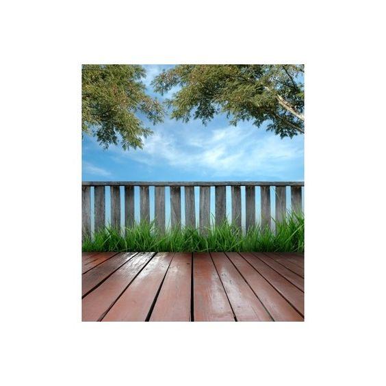 Ξύλινη βεράντα - Δωρεάν εικόνες - χωρίς δικαιώματα φωτογραφίες -... ❤ liked on Polyvore featuring backgrounds, rooms, empty rooms and garden