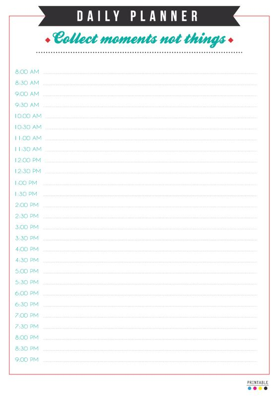 Printable (Day 7) Daily planner ( Collect moments not things )Download~> A4PDF / A5PDF Enjoy!