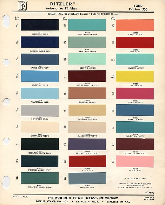 1956 F100 Paint Colors 1955 Ford Paint Color Codes And This Original Pa