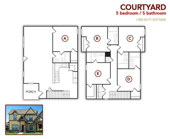5 bedroom, 5 bath Courtyard