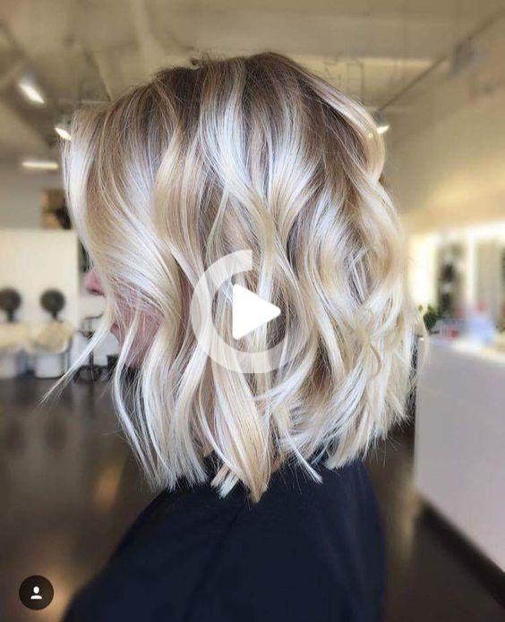 Cute Short Blonde Hairstyles 2018 In 2020 Hair Styles Cool Blonde Hair Medium Length Hair With Layers