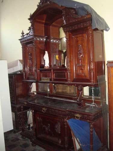 Remato comedor renacimiento franc s ara a imperio 12 756 for Muebles vintage mexico