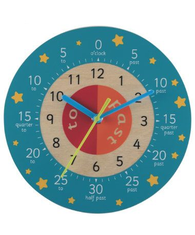 Teaching Clock - Blue   Teaching clock, Clock and Teaching
