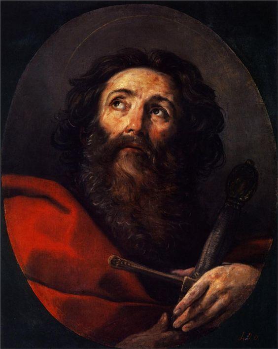 Guido Reni. San Pablo, 1634. óleo sobre lienzo. Museo del Prado. WikiPaintings.org