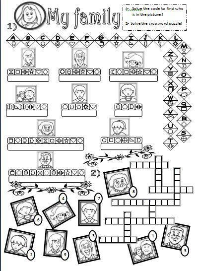 Worksheets English Exercises For Kids Family Members Pdf worksheets exercise for kids and the family on pinterest members exercises kids