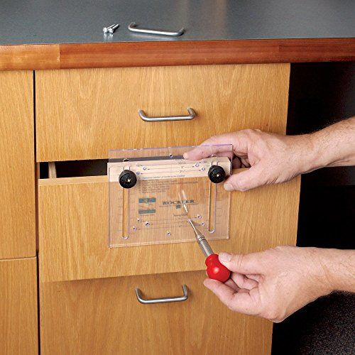Drawer Pull Jig It Template And Center Punch Rockler Wood Woodworking Drawer Pulls Woodworking Projects