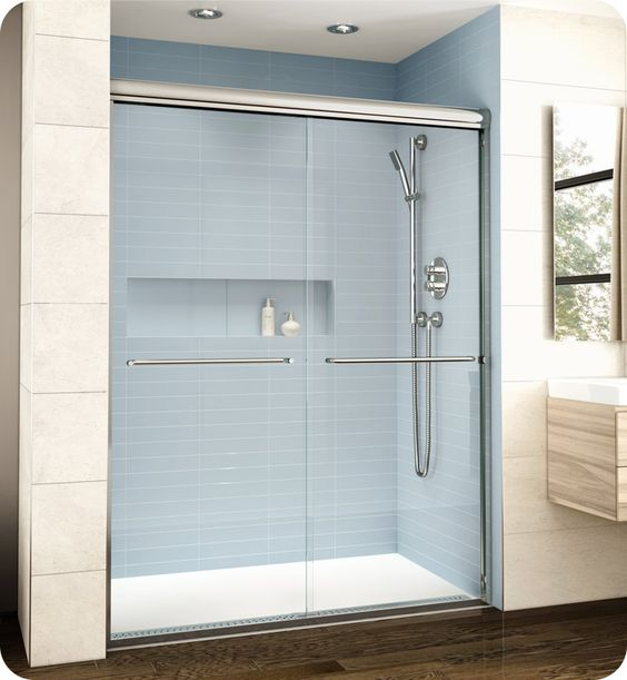 "Fleurco EL161 Banyo Cordoba Bypass Plus 61"" Semi Frameless Sliding Shower Doors"