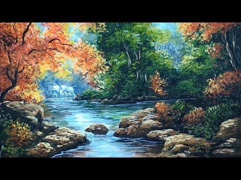 Awesome Draw The Beauty Of Flowing Water Look Natural Art Sketching Youtube Nature Art Sketches Art