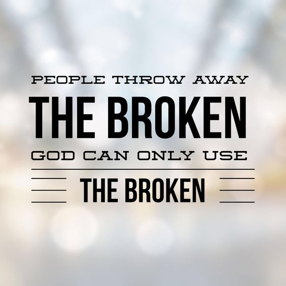 "From today's LifeNotes . .   ""God seeks out the broken because they are most useful to Him . . "" @Goye4th   Catch Christian and ""God Only Uses the Broken"" . . at LifeNotes . . the Cafe blog . ."