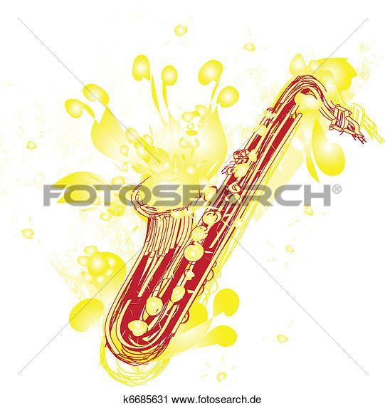 Clipart - abstrakt, Sketchy, saxophon k6685631 - Suche Clip Art, Illustration Wandbilder, Zeichnungen und Vector EPS grafische Bilder - k6685631.eps