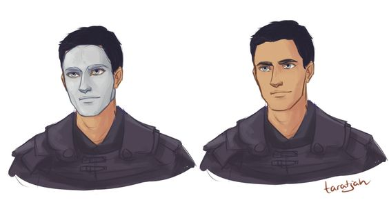 "taratjah: "" These are some drawings I did a while back of Helene, Laia and Elias from an Ember in the Ashes! This was me trying to figure out what they look like. "":"
