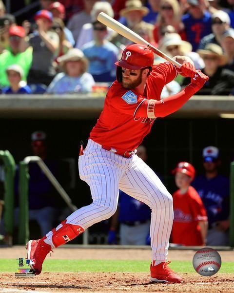 Bryce Harper Philadelphia Phillies 2018 Spring Training At Bat Mlb Baseball 8 X 10 Photo Phillies Chicago Cubs Baseball Baseball