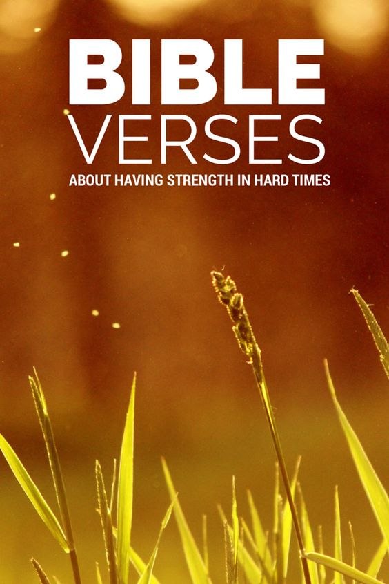 Hard times, Bible verses and Strength on Pinterest