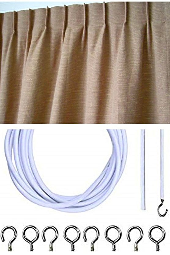 Pencil Pleat Curtain Hooks Spotlight And Lifa Living Blackout Curtain With Hooks Rings Curtains In 2020 Curtain Hooks Curtains Pleated Curtains
