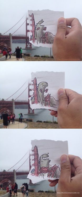Godzilla in San Francisco- Lume
