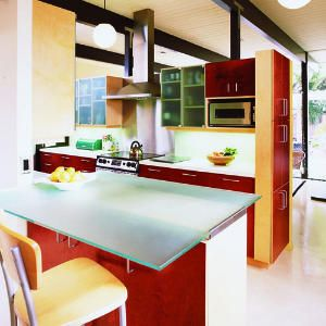 Side cabinet. Counter is awesome!   20 inspiring kitchen makeovers | Eichler kitchen update | Sunset.com
