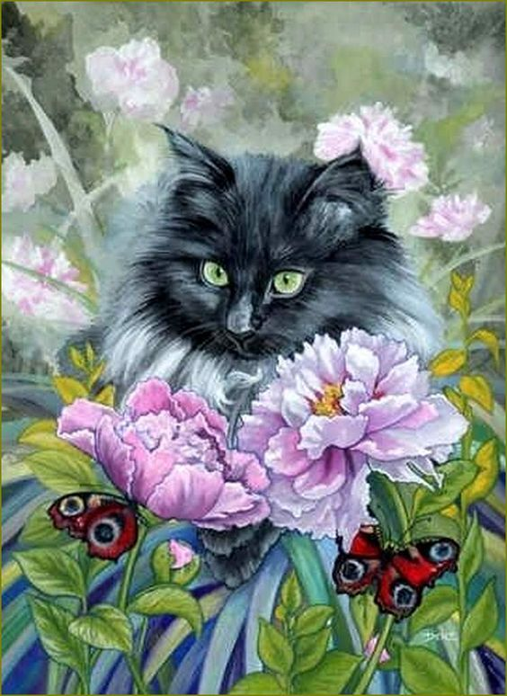Les chats par les peintres -   Denise Freeman