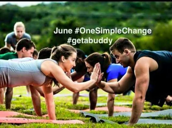June  One Simple  Change  #getabuddy