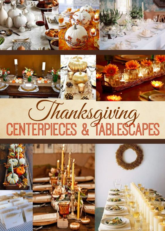 Simple ideas for thanksgiving centerpieces and tablescapes for Inexpensive thanksgiving centerpieces