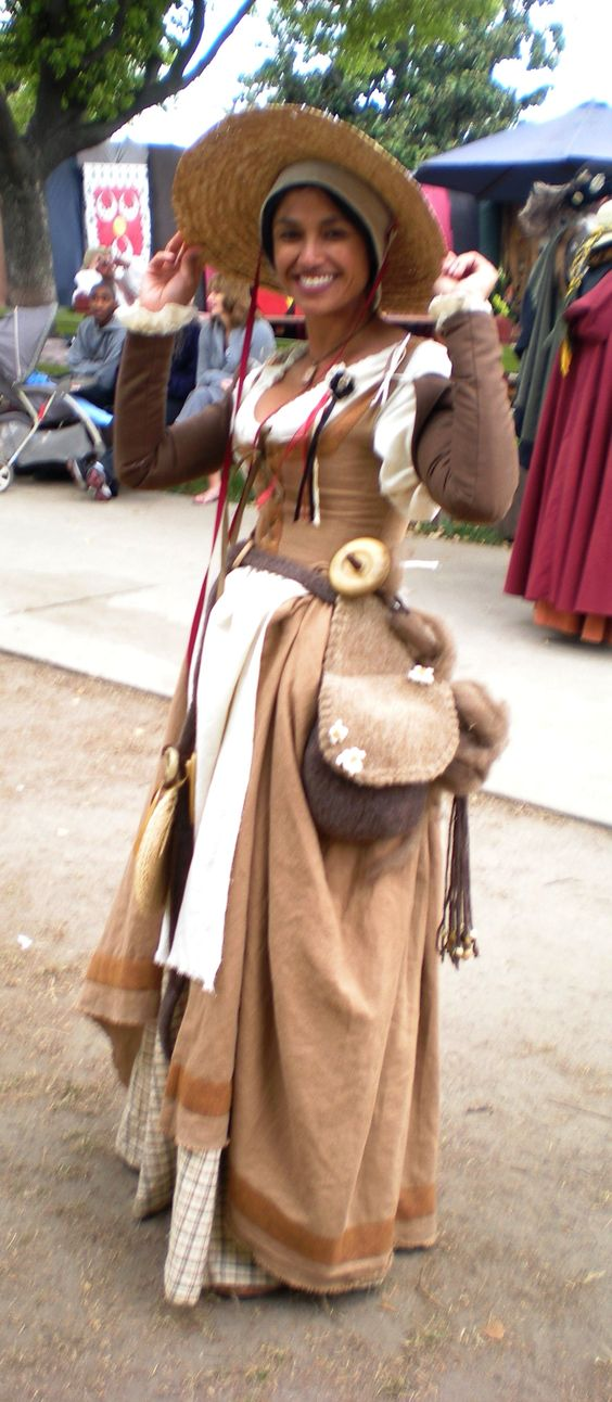 My English kirtle.  Renaissance Pleasure Faire - Everything was made by me except the hat! 2011: