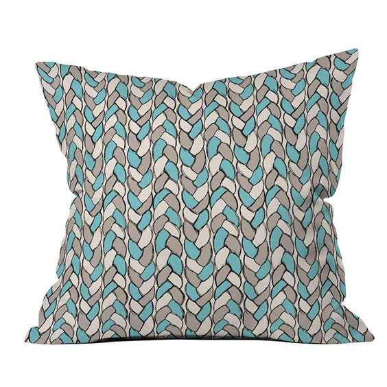 DENY Designs Bianca Green Braids Sky Throw Pillow | Pure Home