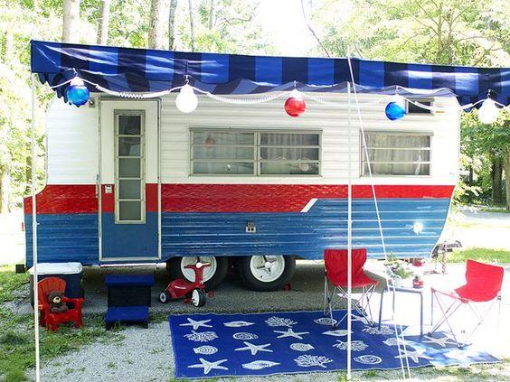 Vintage Camper Makeover - Travel Trailer Decorating Ideas