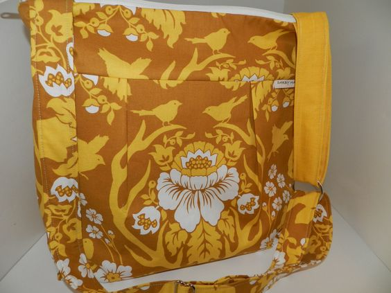 Camera Bag Purse, DSLR  padded camera purse...YELLOW Bird Print,  with removable insert by Darby Mack. $89.00, via Etsy.