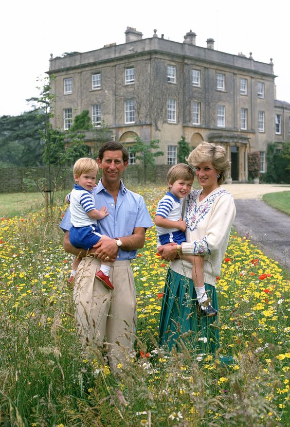 Wild flower meadow at Highgrove (1986). | 15 Sweet Photos Of William And Harry When They WereLittle