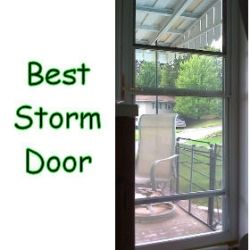 Storm doors retractable screens and storms on pinterest for Best retractable screen door reviews