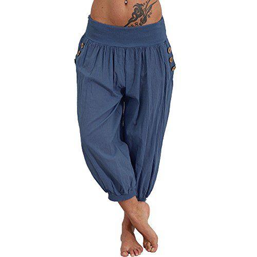 Corsaire Femmes Grande Taille Big Size Décontracté Leggings High Waist Stretch