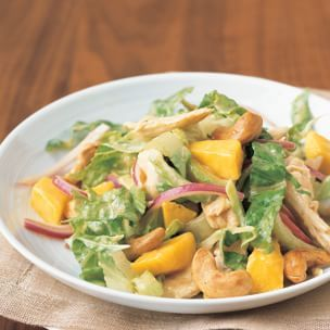 chicken and mango salad with chutney vinaigrette