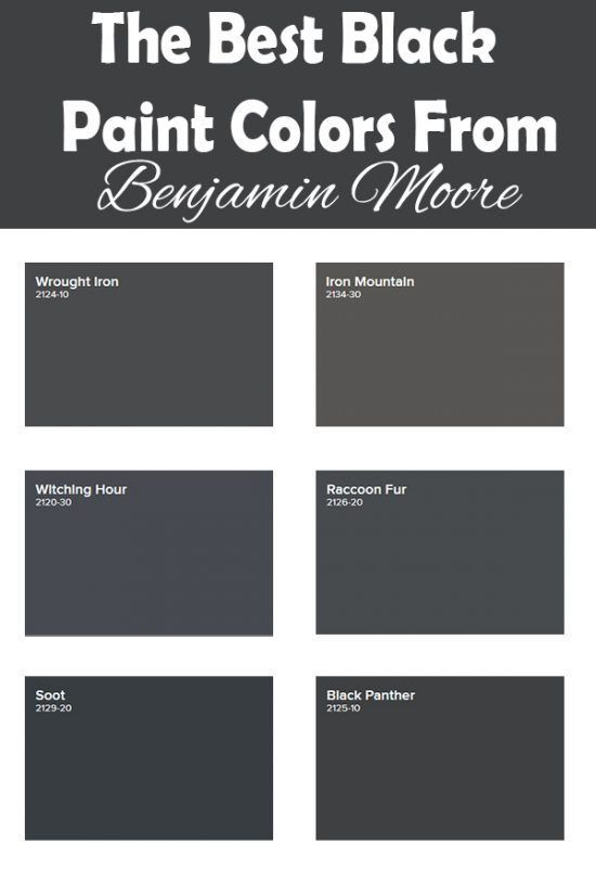 Benjamin Moore Wrought Iron Vs Iron Mountain : benjamin, moore, wrought, mountain, Black, Paint, Colors, Benjamin, Moore, Moore,, Color,