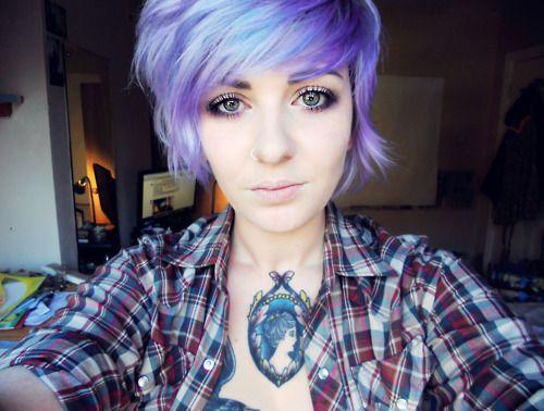 purple hair short hair girls and purple on pinterest