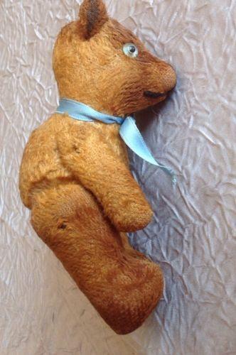 superbe petit nounours ours peluche ancien debut xx 1900 1930 articule ebay