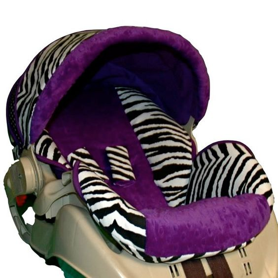 custom replacement baby car seat cover graco snugride 22 purple zebra baby car seats cars. Black Bedroom Furniture Sets. Home Design Ideas